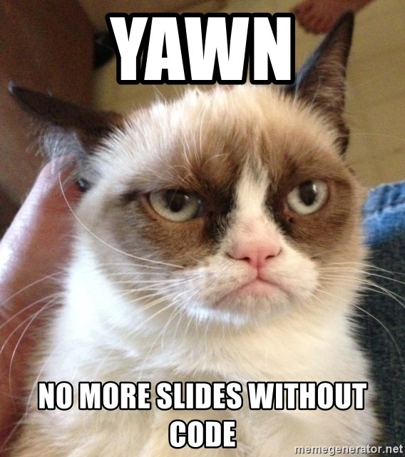 Grumpy Cat 2 - yawn no more slides without code