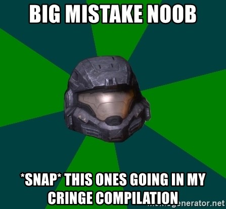 Halo Reach - Big mistake noob *snap* this ones going in my cringe compilation