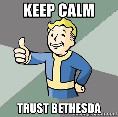 Fallout Boy - Keep Calm  Trust Bethesda