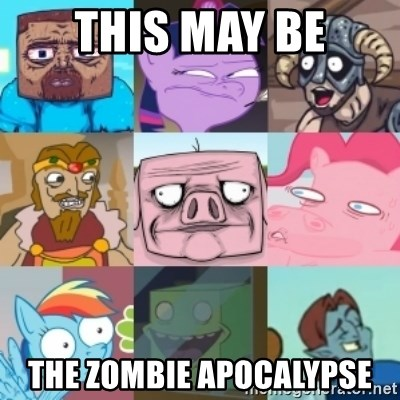 Minecraft Ponies Skyrim - This may be The zombie apocalypse