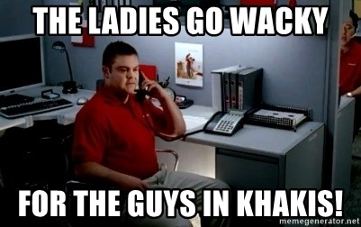 Jake From State Farm - The ladies go wacky For the guys in khakis!