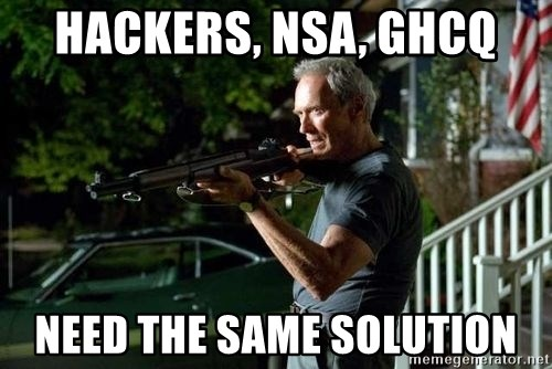 Clint Eastwood Get Off My Lawn - Hackers, nsa, ghcq need the same solution