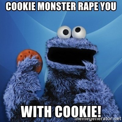 Cookie Monster Desktop - cookie monster rape you with cookie!