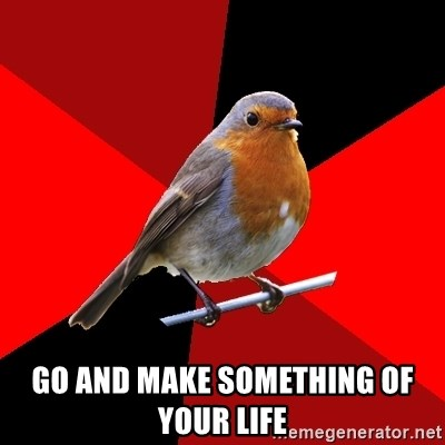 Retail Robin - go and make something of your life