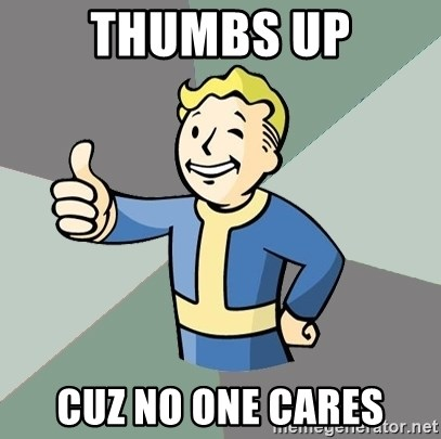 Fallout Boy - thumbs up cuz no one cares