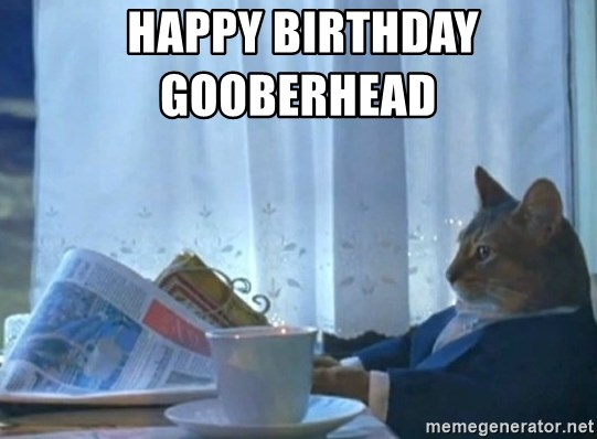 newspaper cat realization - Happy Birthday                       Gooberhead