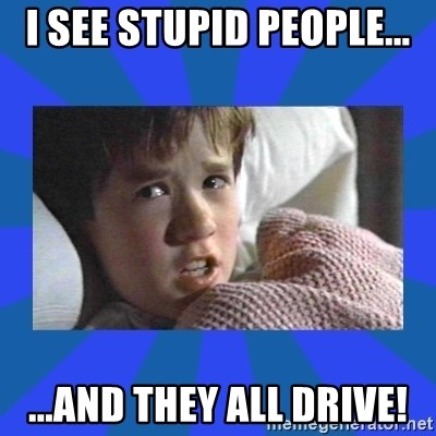 i see dead people - I SEE STUPID PEOPLE... ...AND THEY ALL DRIVE!