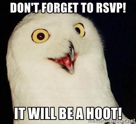 Orly Owl - Don't forget to RSVP! It will be a HOOT!