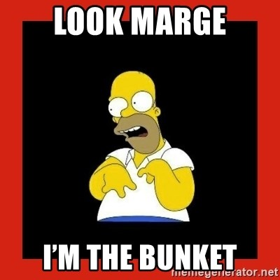 Homer retard - Look Marge I'm the Bunket