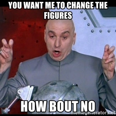 dr. evil quote - You want me to change the figures How Bout NO