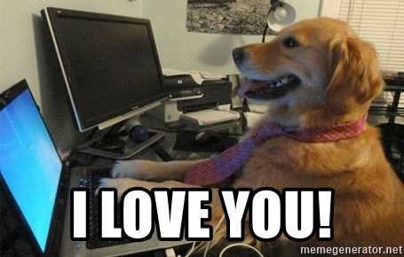 I have no idea what I'm doing - Dog with Tie - i love you!