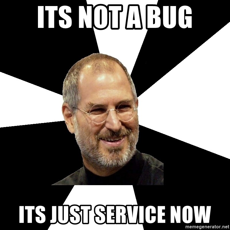 Steve Jobs Says - Its not a bug Its just service now