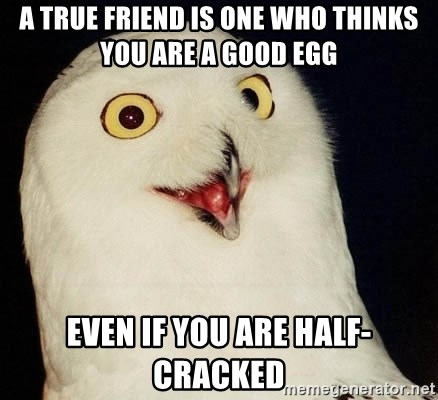 Orly Owl - A TRUE FRIEND IS ONE WHO THINKS YOU ARE A GOOD EGG EVEN IF YOU ARE HALF-CRACKED