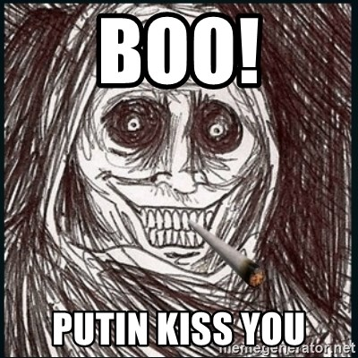 Good Guy Ghost  - boo! putin kiss you