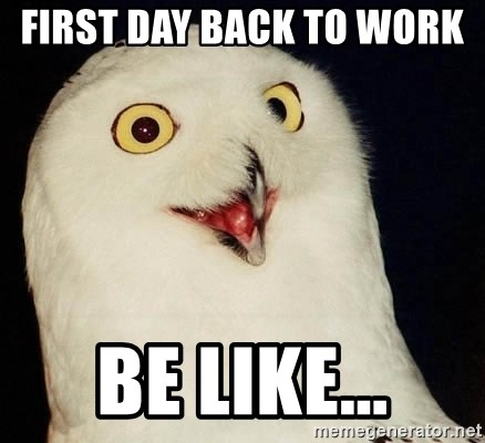 Orly Owl - first day back to work   be like...