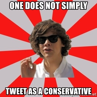 One Does Not Simply Harry S. - one does not simply tweet as a conservative