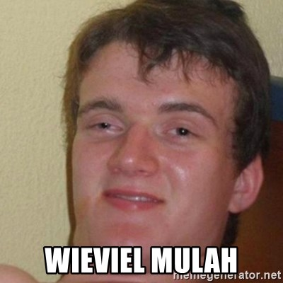 really high guy - Wieviel mulah