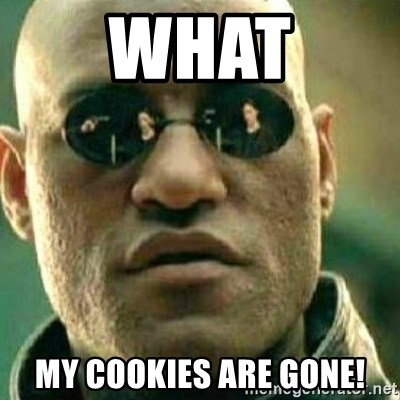 What If I Told You - what my cookies are gone!