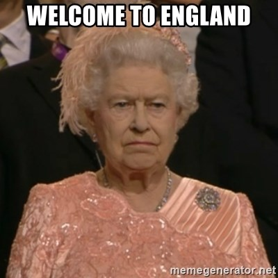 The Olympic Queen - Welcome to England