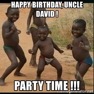 Dancing black kid - Happy Birthday, Uncle David ! Party Time !!!