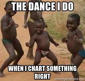 african children dancing - The Dance I do  when I chart something right