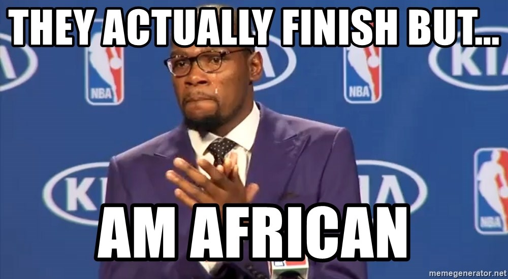 KD you the real mvp f - They actually finish but... am african