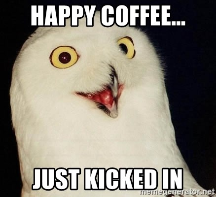 Orly Owl - HAPPY COFFEE... JUST KICKED IN