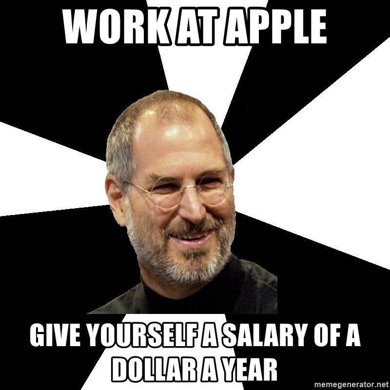 Steve Jobs Says - Work at Apple Give Yourself a Salary of a Dollar a Year