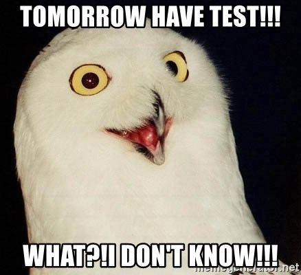 Orly Owl - Tomorrow have test!!! What?!I don't know!!!