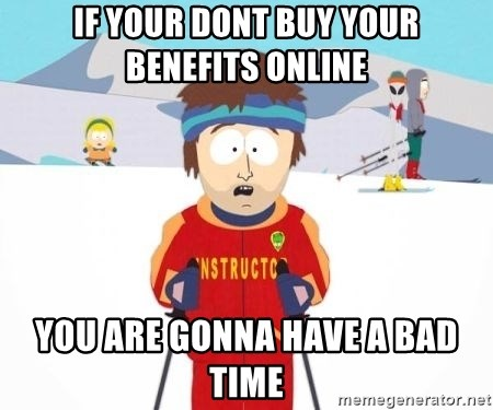 South Park Ski Teacher - If your dont buy your benefits online You are Gonna have a bad time