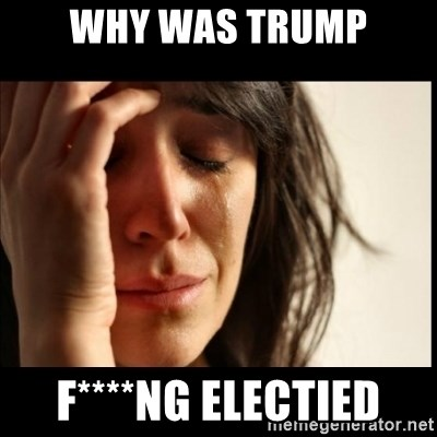 First World Problems - WHY WAS TRUMP F****NG ELECTIED