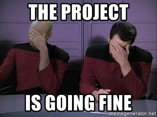 Picard-Riker Tag team - The Project Is Going Fine
