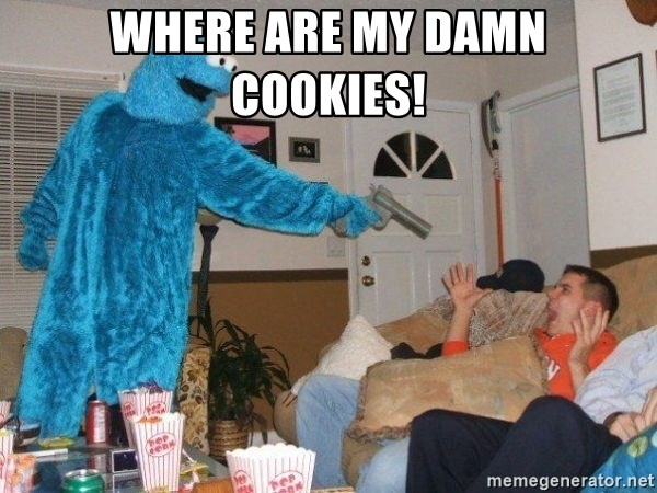 Bad Ass Cookie Monster - Where are my damn cookies!