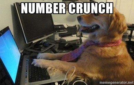 I have no idea what I'm doing - Dog with Tie - Number crunch