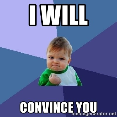 Success Kid - I WILL CONVINCE YOU
