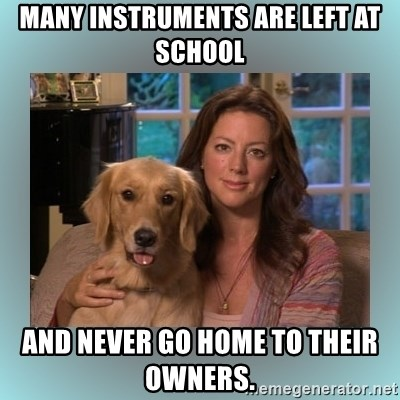 Sarah McLachlan - Many instruments are left at school and never go home to their owners.