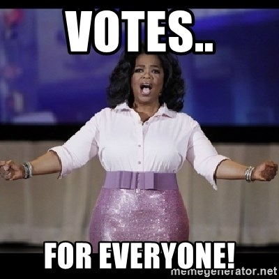 free giveaway oprah - votes.. for everyone!
