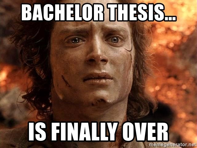 Frodo  - Bachelor thesis... is finally over
