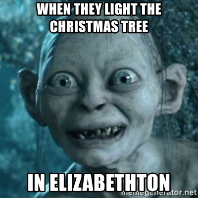 My Precious Gollum - when they light the Christmas tree in Elizabethton