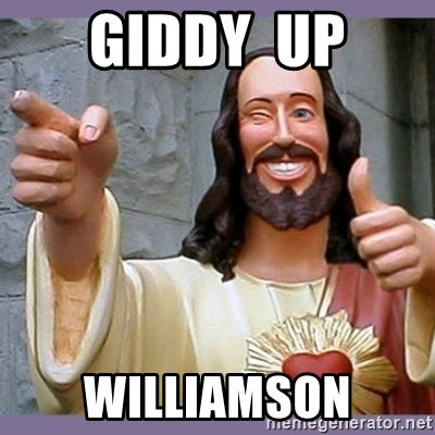 buddy jesus - giddy  up williamson