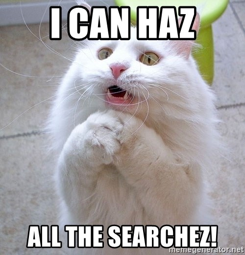 i can haz cat - I can haz all the SEARCHEZ!