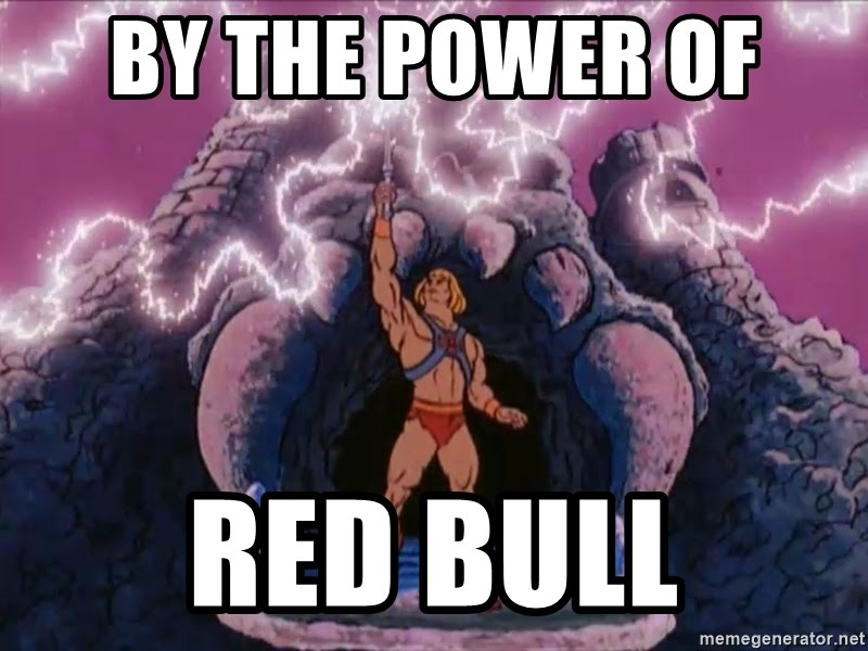 He-man-gray - By the power of  Red Bull
