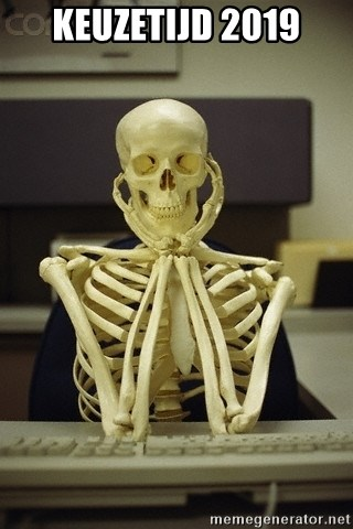 Skeleton waiting - keuzetijd 2019