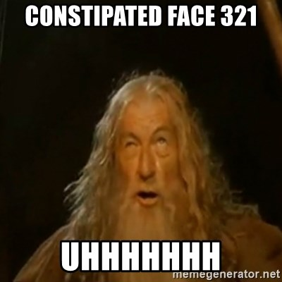 Gandalf You Shall Not Pass - Constipated Face 321 UHHHHHHH