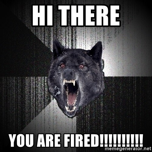 Insanity Wolf - Hi there  You are fired!!!!!!!!!!