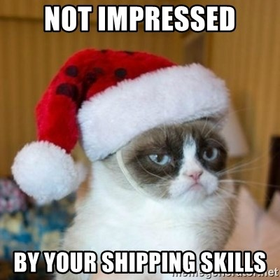 Grumpy Cat Santa Hat - not impressed by your shipping skills