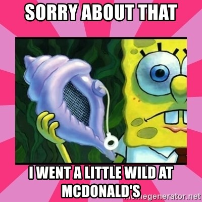 magic conch shell - Sorry about that i went a little wild at McDonald's