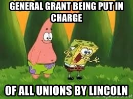 Ugly and i'm proud! - general grant being put in charge of all unions by lincoln