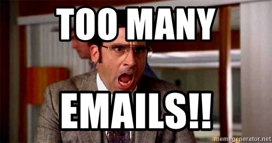 brick tamland - Too Many  EMAILS!!