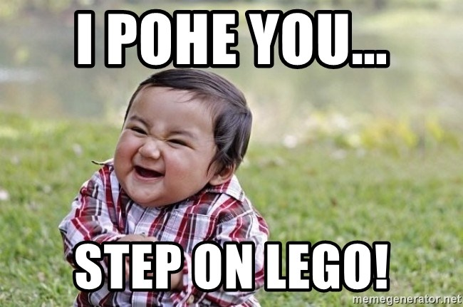 evil asian plotting baby - i pohe you... step on lego!